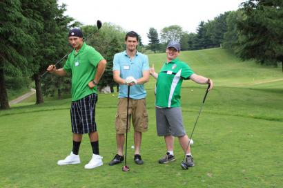 Golfers at the Hickory Dickory Decks Charity Golf Tournament.