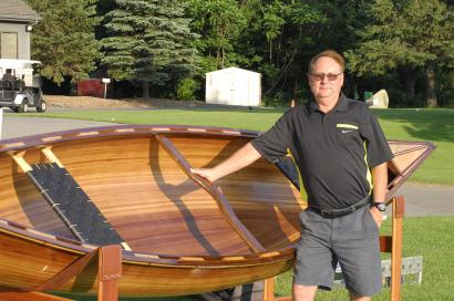 Canoe winner at the 2015 Hickory Dickory Decks Charity Golf Tournament.