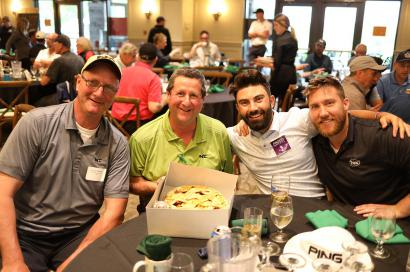 Golfers with pie!